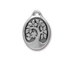 TierraCast Antique Silver (plated) Bird In A Tree Drop 18x26mm
