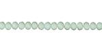 Matte Seafoam Crystal Faceted Rondelle 4mm