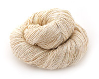 Ivory Sparkle Lace Weight Silk Yarn