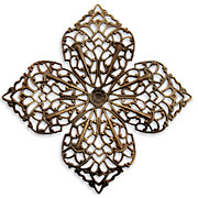 Vintaj Natural Brass Clover Petal Filigree 59mm