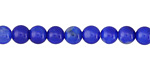 Cobalt Fire Agate Round 6mm