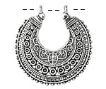 Zola Elements Antique Silver (plated) Bali Crescent Focal 37x38mm