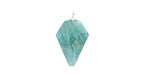 Brazil Amazonite Faceted Arrow Pendant w/ Silver Finish 11-12x19-20mm