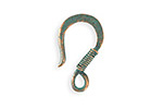 Vintaj Copper Verdigris (plated) Coiled Wire Hook 23x13mm