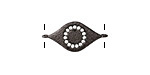 Clear Pave CZ Gunmetal (plated) Evil Eye Focal Link 22x11mm