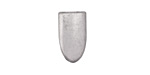 Zola Elements Antique Silver (plated) Smooth Pointed End 7mm Flat Cord Tip 10x17mm