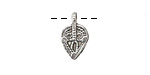 Antique Silver (plated) Macrame Teardrop 10x16mm