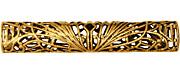 Stampt Antique Gold (plated) Long Deco Filigree Tube 52x9mm