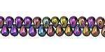Czech Glass Iris Purple Teardrop 4x6mm