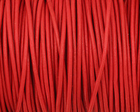Red Round Leather Cord 2mm