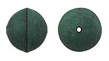 Natural Emerald Leather Round Bead 26-29mm