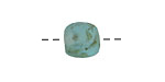 African Recycled Glass Turquoise Green Tumbled Round 10-14mm