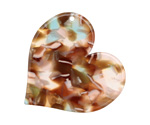Zola Elements Mermaid Acetate Heart Focal 35mm