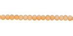 Matte Apricot Crystal Faceted Rondelle 3mm