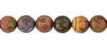 Red Creek Jasper Faceted Round 8mm