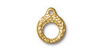 TierraCast Gold (plated) Maker's Toggle Ring 6x13.5mm