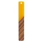 Walnut Wood & Saffron Resin Stick Focal 8x52mm