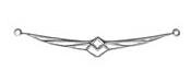Amoracast Sterling Silver Firebird Connector 53x7mm