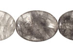 Natural Silver Quartz Flat Oval 30x22mm