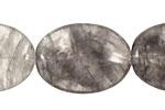 Natural Silver Quartz Flat Oval 30x22mm
