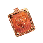 Patricia Healey Copper Dotted Heart in Frame Pendant 25x32mm