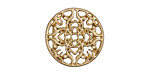 Zola Elements Matte Gold (plated) Mandala 7mm Flat Cord Slide 20mm