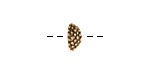 Nunn Design Antique Gold (plated) Urchin Bead Cap 5x12mm