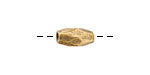Nunn Design Antique Gold (plated) Faceted Double Cone 12x6mm