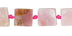 Pink Opal Square Slice 12-14mm