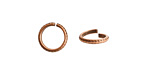 Nunn Design Antique Copper (plated) Hammered Edge Jump Ring 10mm