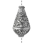 Zola Elements Antique Silver (plated) Vined Teardrop Focal Bead 19x34mm