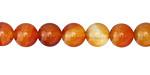 Carnelian (orange) Round 8mm