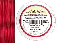 Artistic Wire Magenta 28 gauge, 40 yards