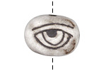 Gaea Ceramic White On Black Eye Bead 26x19mm