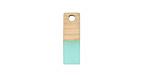 Wood & Sea Green Resin Rectangle Focal 6x17mm