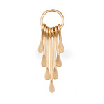 Zola Elements Matte Gold Finish Long Teardrop Graduated Paddle Set on Ring 12x42mm