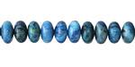 Larimar Blue Crazy Lace Agate Rondelle 5x8mm