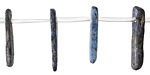 Kyanite (dark) Freeform Side Drilled Natural Drops 2-6x11-23mm