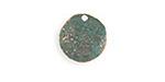 Vintaj Copper Verdigris (plated) Dotted Dapped Circle 14mm