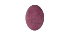 Matte Ruby Resin Oval Cabochon 13x18mm