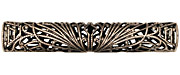 Stampt Antique Pewter (plated) Long Deco Filigree Tube 52x9mm