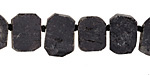 Black Tourmaline (matte) Natural Cut Slice Drop 9-11x12-15mm