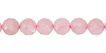 Rose Quartz Faceted Round 8mm