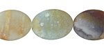 Black Gold Amazonite (matte) Flat Oval 20x15mm