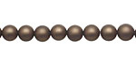 Chocolate (matte) Shell Pearl Round 6mm