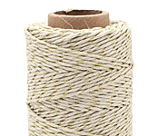 Metallic Gold Hemp Twine 20 lb, 205 ft