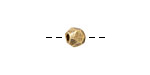 Nunn Design Antique Gold (plated) Faceted Round 6mm