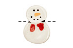 Jangles Ceramic Snowman 20x28mm