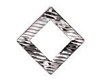 Zola Elements Gunmetal (plated) Raked Wavy Open Diamond Drop 34mm