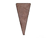 Lillypilly Golden Brown Leather Triangle Tag 17x36mm